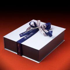 Χειροποίητο Πολυτελές Κουτί σε μεταλλικό χρώμα για 3 φιάλες