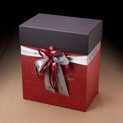 Χειροποίητο κουτί Bordeaux & Black 6 φιαλών.
