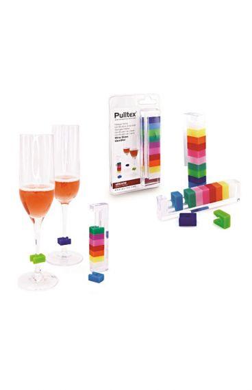Πολύχρωμα Τετράγωνα Διακριτικά Ποτηριών - Pulltex