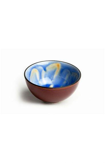 Κεραμιδί και μπλε πορσελάνινη κούπα Hana