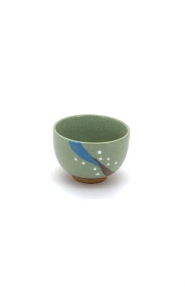 Πολύχρωμη πορσελάνινη κούπα πράσινη