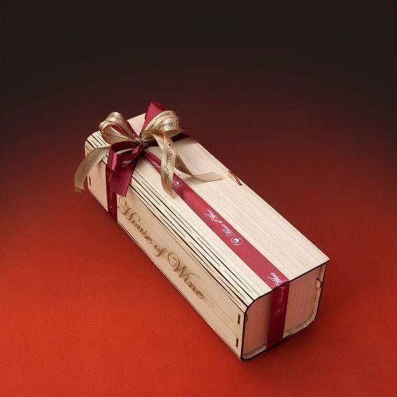 Wooden Box 1 φιάλης