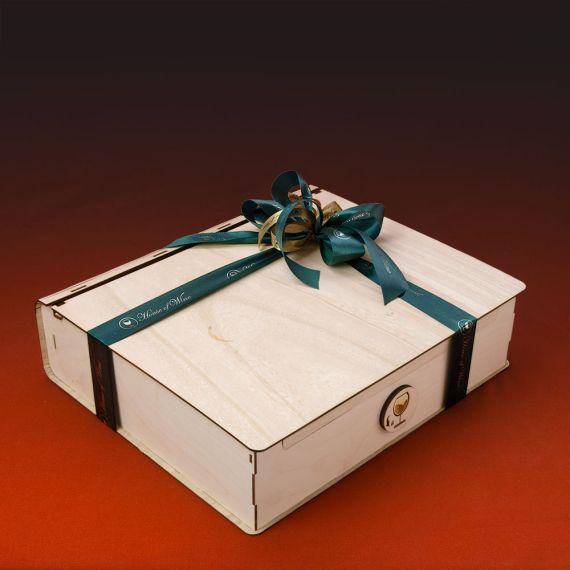 Wooden Box 4 φιαλών