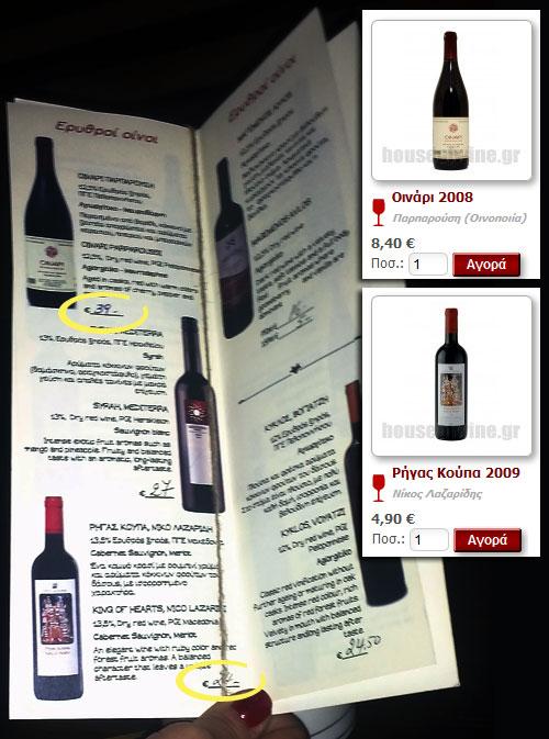 Το κρασί στον κατάλογο και στο House of Wine